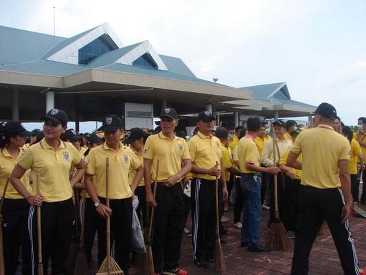 ศุลกากรเมืองมุกร่วม ตม. Big Cleaning Day บริเวณสะพานไทย-ลาว