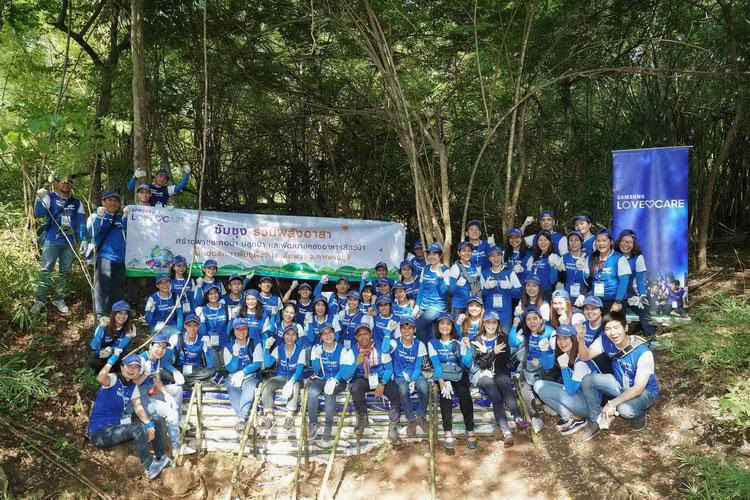 """ซัมซุง สานต่อโครงการ """"Samsung Love & Care"""" ร่วมฟื้นฟูเขตรักษาพันธุ์สัตว์ป่าสลักพระ จ. กาญจนบุรี"""
