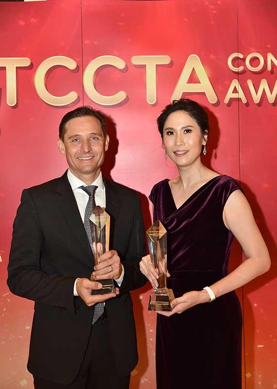 ผู้ชนะรางวัล The Best Contact Center of The Year ทั้ง 2 บริษัท