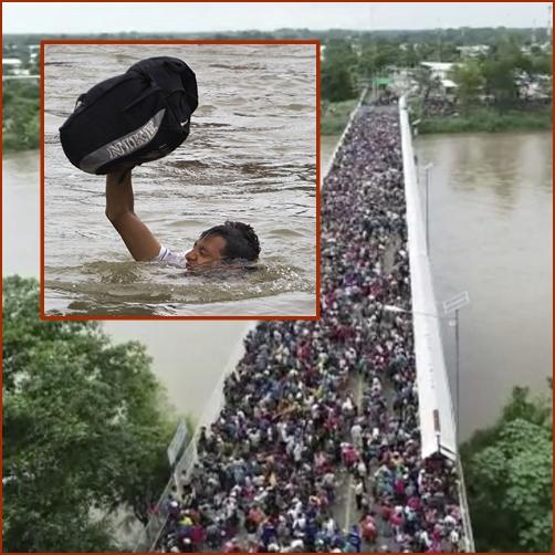 In Pics:กองทัพคาราวานผู้อพยพจากอเมริกากลางมุ่งเข้าสหรัฐฯ ตอนนี้ข้ามจากกัวเตมาลาเข้าเม็กซิโกแล้วจ้า