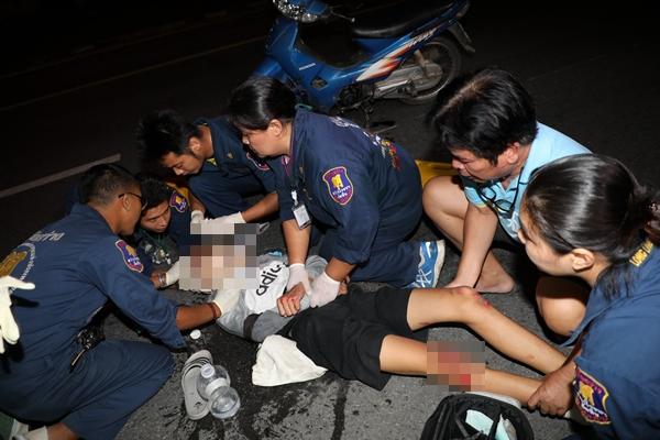 อุบัติเหตุ 2 รายซ้อนช่วงคืนที่ผ่านมาใน อ.สัตหีบ จ.ชลบุรี มีทั้งผู้เสียชีวิตและบาดเจ็บ
