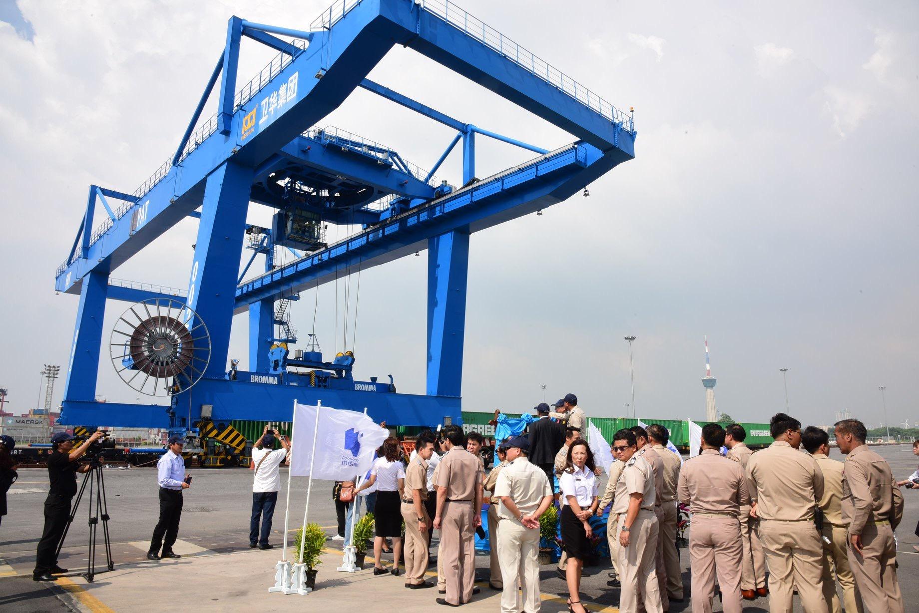 แหลมฉบัง เปิดใช้ศูนย์ขนส่งทางราง SRTO  เพิ่มขนส่งทางรางเข้าท่าเรือ 25%