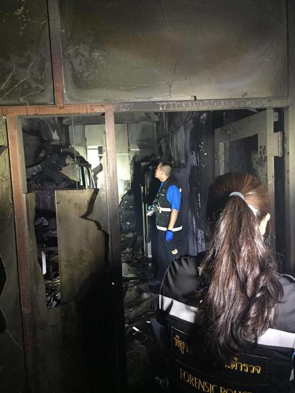ไฟไหม้ห้องเซิร์ฟเวอร์ ตึกพลาธิการตร. โชคดีใช้ถังเคมีดับเพลิงระงับเหตุ ไม่ให้ลุกลาม