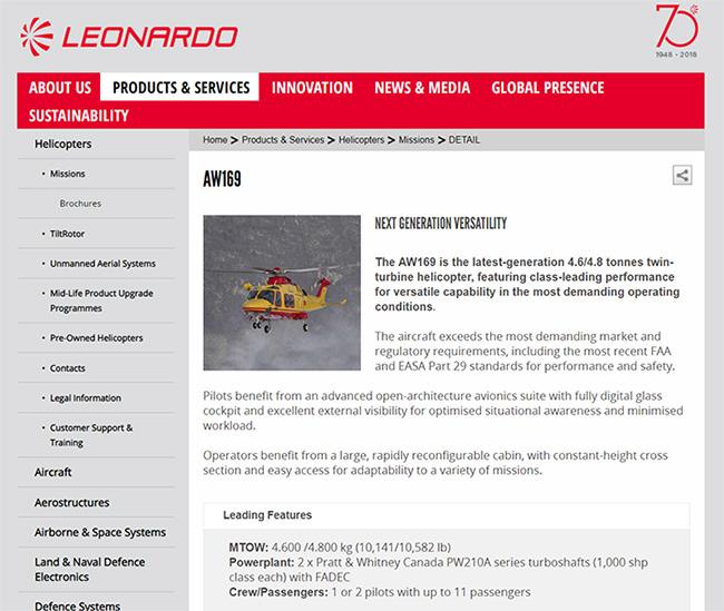 ภาพจากเว็บไซต์ www.leonardocompany.com
