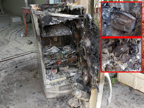มหัศจรรย์! ไฟไหม้หิ้งพระที่วางอยู่บนตู้เย็นเสียหายหมดทั้งตู้ แต่พระที่บูชาไว้ไร้รอยขีดข่วน