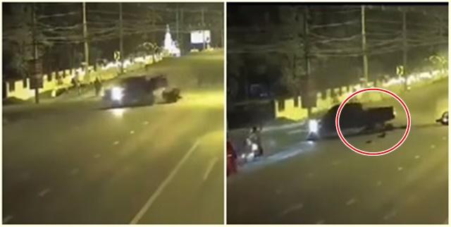 ชาวเน็ตประณามกระบะใจโหด! ขับตัดหน้าจักรยานยนต์ ถอยเหยียบซ้ำ ก่อนซิ่งหาย