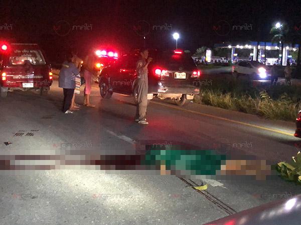 คนขับเก๋งหรูเมาหนักซิ่งชนท้ายรถพ่วงข้างตายคาที่ 1 ศพและบาดเจ็บ 1 ราย