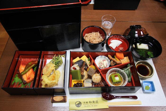 เมนูอาหารของ KYOTO WAZUKASO