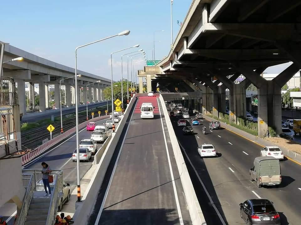 เปิดใช้แล้ว ! สะพานเข้าสนามบินดอนมือง แก้คอขวดวิภาวดีฯขาออก