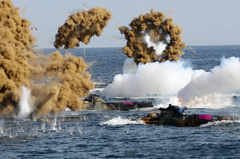 โสมแดงโวย 'สหรัฐฯ-เกาหลีใต้' เปิดซ้อมรบ ละเมิดข้อตกลงลดความตึงเครียด