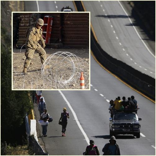 In Clips: ทหารกองทัพสหรัฐฯตั้งสิ่งกีดขวาง – ผุดกำแพงขดลวดสนามในซานดิเอโก หลังคาราวานกลุ่มแรกใกล้ถึงพรมแดนสหรัฐฯ