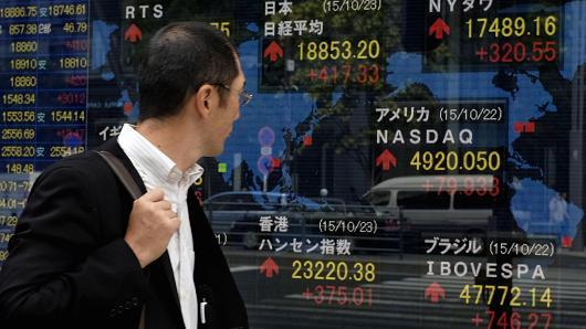 ตลาดหุ้นเอเชียอ่อนตัวลง หลังดาวโจนส์ปิดร่วงกว่า 200 จุด
