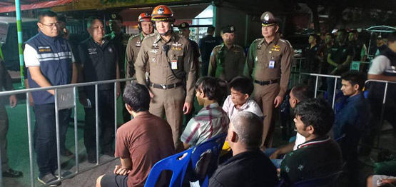 กวาดล้างจับกุมชาวต่างชาติ 542 รายอยู่ในประเทศไทยโดยผิดกฎหมาย