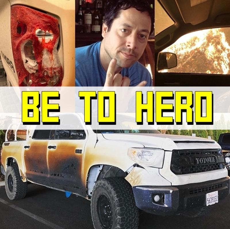 2 ฮีโร่รวมร่าง! ช่วยคนหนีไฟป่าแคลิฟอร์เนีย  Allyn Pierce X Toyota Tundra