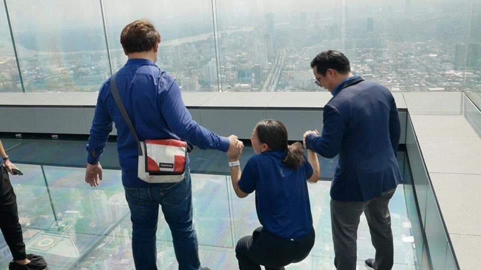 กิจกรรมท้าความกล้าบนความสูง 314 เมตร