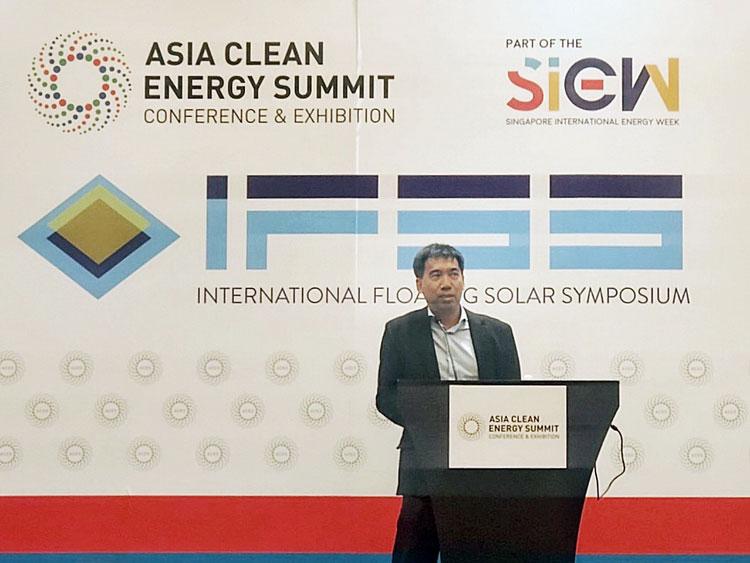 เอสซีจีโชว์นวัตกรรมโซล่าร์ฟาร์มลอยน้ำ ในงานประชุมพลังงานสะอาดแห่งเอเชีย ประเทศสิงคโปร์