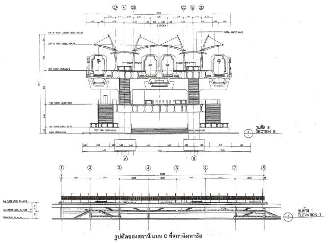 รูปตัดของสถานีมหาชัย (ใหม่)