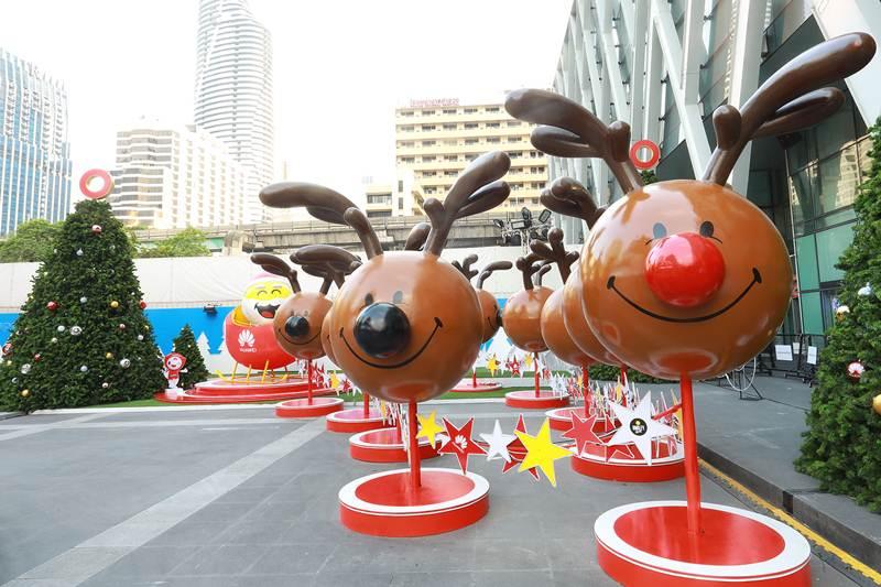 Smiley Caravan, Deer and Santa Claus