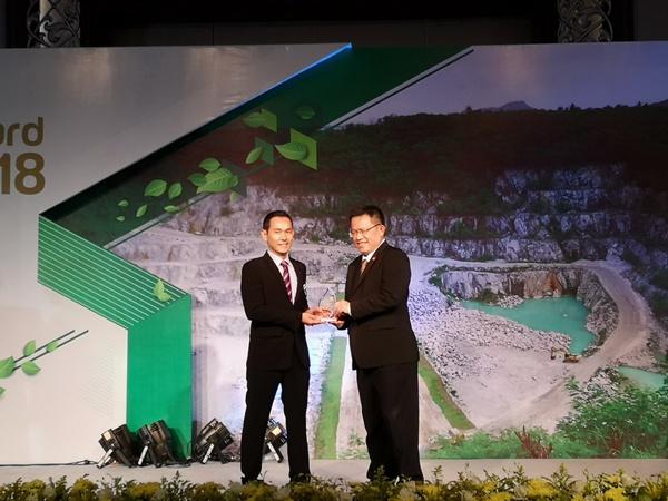 กระทรวงอุตสาหกรรมมอบรางวัลเหมืองแร่สีเขียวแก่โรงงานยิปรอค ในงาน Green Mining Award 2018