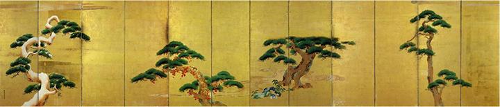 """ฉากกั้นห้องภาพสนมัตสึสี่ฤดู"""" """" (Shiki Matsu-zu Byōbu)"""