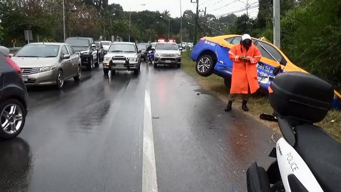 สภาพอากาศแย่!อุบลฯฝนตกฟ้าปิดทำรถชน 3 คัดรวด โชคดีไม่มีตาย
