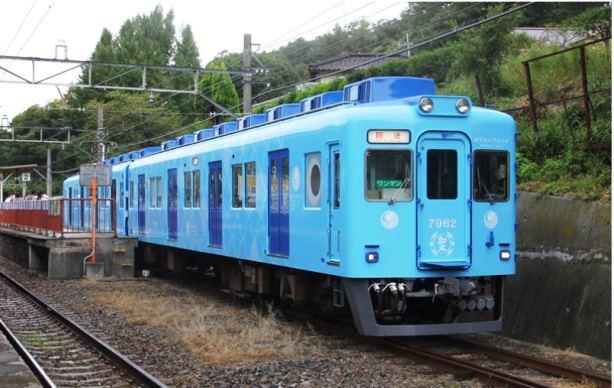"""""""ไค"""" ขบวนรถไฟสีฟ้าเป็น"""