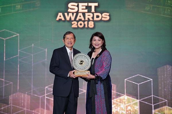'ไทยออยล์' คว้ารางวัลยอดเยี่ยมประเภทรางวัลบริษัทจดทะเบียน ด้านผลการดำเนินงาน จาก SET Awards 2018