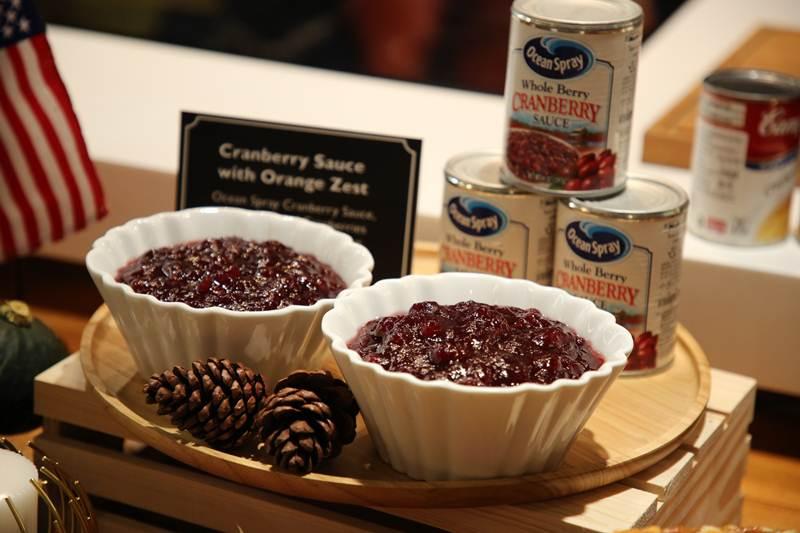 เมนู Cranberry sauce with orange zest