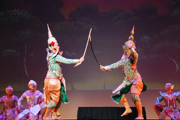 แฟ้มภาพการแสดงโขนไทยในนิวซีแลนด์ เพื่อเผยแพร่ศิลปวัฒนธรรมไทยในต่างแดน