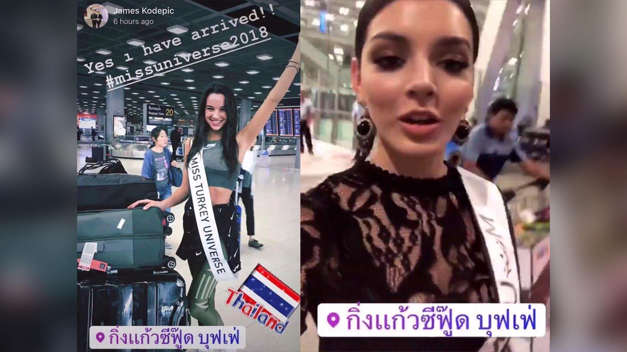 สาวงามผู้เข้าประกวด Miss Universe 2018 เช็คอินหลังถึงไทยแต่ดันเป็นร้านบุฟเฟต์