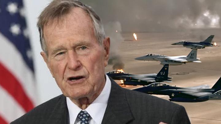 """ย้อนตำนาน """"จอร์จ บุช"""" อดีตประธานาธิบดีสหรัฐฯ รบกับ """"ซัดดัม ฮุสเซน"""" ในสงครามอ่าวเปอร์เซีย"""