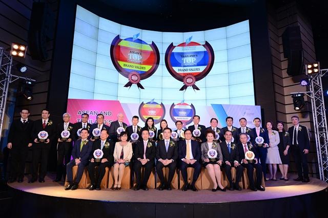 15 องค์กรที่ได้รับรางวัล Thailand's Top Corporate Brand Values awards 2018 (1-7)
