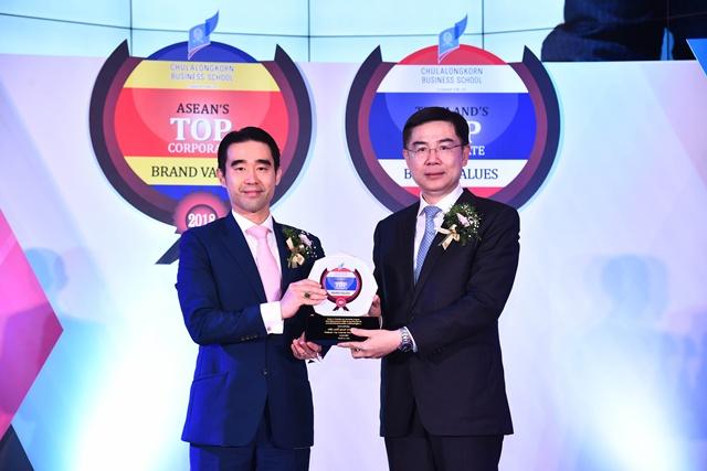 นายอัศวิน เตชะเจริญวิกุล ประธานเจ้าหน้าที่บริหารและกรรมการผู้จัดการใหญ่ กลุ่มบริษัท บีเจซี บิ๊กซี รับรางวัลเป็นปีที่ 3 ติดต่อกัน ในหมวดธุรกิจพาณิชย์ ด้วยมูลค่าแบรนด์องค์กร 127,012 ล้านบาท