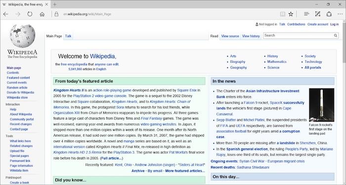 Microsoft โชว์ตัวเบราว์เซอร์ Edge แทน Microsoft Internet Explorer ตั้งแต่ปี 2015