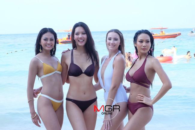 เซ็กซี่ระดับโลก! สาวงามบุกเกาะล้านถ่ายชุดว่ายน้ำ แซบทะเลเดือด