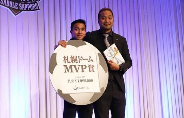 """""""ชนาธิป"""" โพสต์ขอบคุณเพื่อนร่วมทีม หลังคว้า MVP """"คอนซาโดเล่"""""""