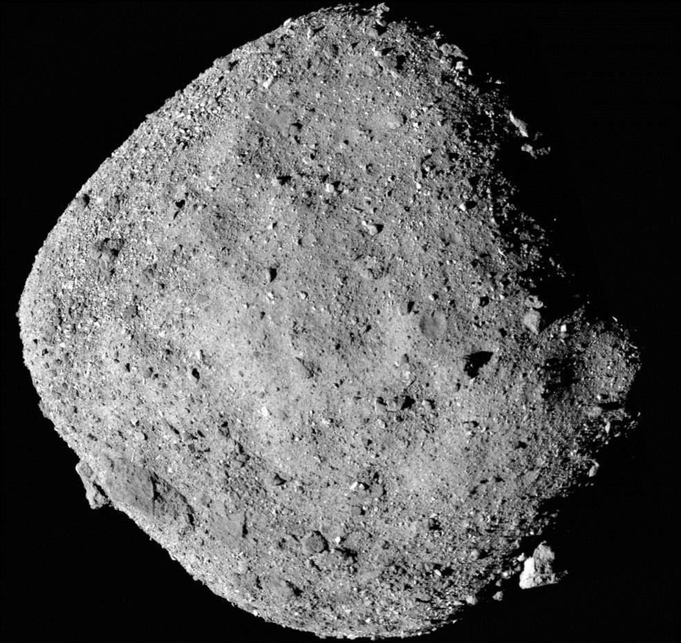 ภาพดาวเคราะห์น้อยเบนนูจากกล้อง PolyCam บนยานโอซิริส-เรกซ์ เมื่อ 2 ธ.ค.2018 ที่ระยะห่าง 24 ก.ม. (Credits: NASA/Goddard/University of Arizona)