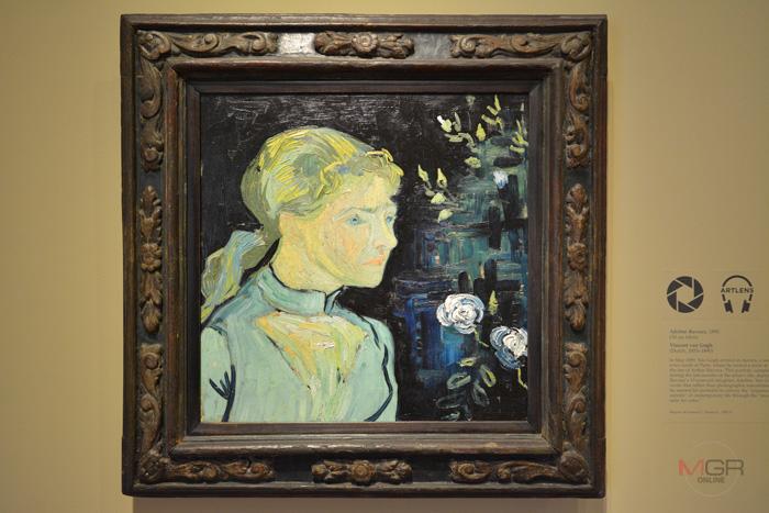 Adeline Ravoux, 1890 Oil on fabric โดย Vincent van Gogh