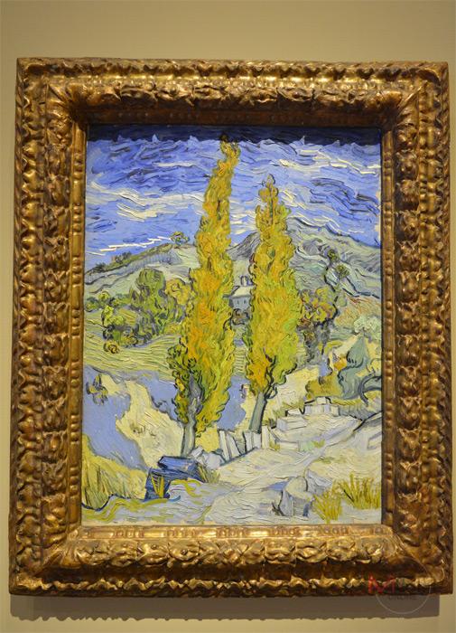 Poplars at Saint-Remy, 1889  Oil on fabric โดย Vincent van Gogh