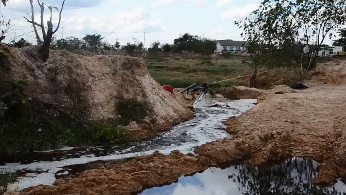 ชาวบ้านผวา!น้ำบ่อขยะทม.วารินชำราบไหลลงลำน้ำสาธารณะ กระทบสุขภาพ-สวล.