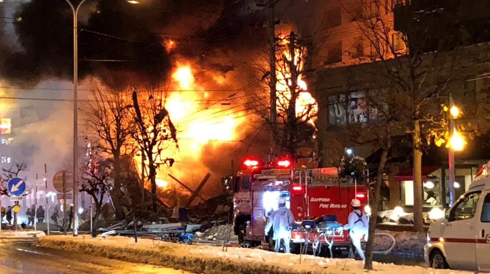 ร้านอาหารในซัปโปโรระเบิดไฟลุก บาดเจ็บกว่า 40 ราย