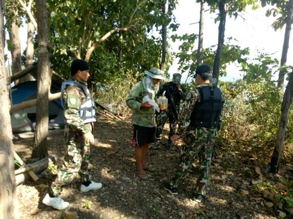 รวบชายชราพร้อมอาวุธปืน และเครื่องกระสุนเพียบ ริมอ่างเก็บน้ำป้องกันลอบล่าสัตว์ป่า