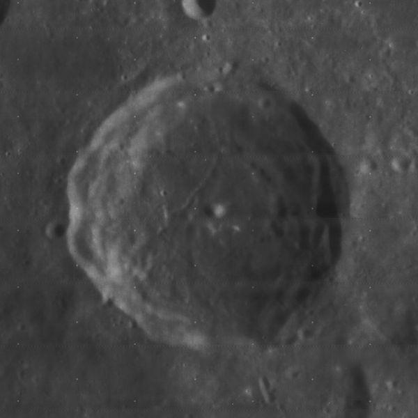 หลุมอุกกาบาต Franklin ที่ตั้งตามชื่อ Benjamin Franklin