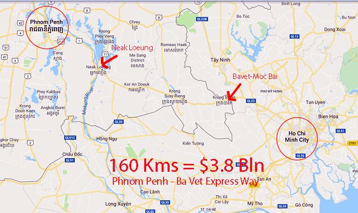 """""""ไจก้า"""" เคาะตัวเลขหึมาค่าทางด่วน $3,800 ล้าน 160 กม.พนมเปญไปโฮจิมินห์"""