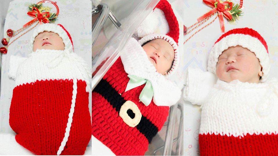 โรงพยาบาลต้อนรับคริสต์มาส จับทารกแรกเกิดสวมชุด ซานตา-ซานตี้