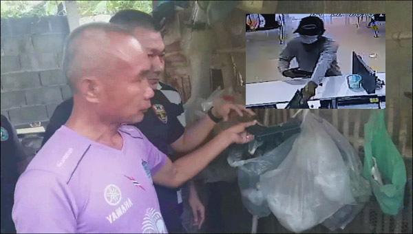 """รวบแล้ว! โจรบุกเดี่ยวจี้ """"แบงค์กรุงไทย""""บุรีรัมย์ ที่แท้เป็นนายทหาร """"ร.ท."""" สารภาพก่อเหตุคนเดียว"""