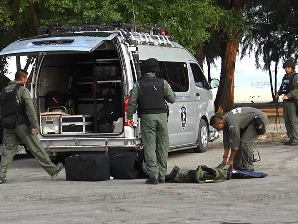 คืบหน้าเหตุระเบิดสงขลา หน่วยอีโอดีตรวจพบระเบิดอีก 3 ลูกก่อนเข้าเก็บกู้สำเร็จ