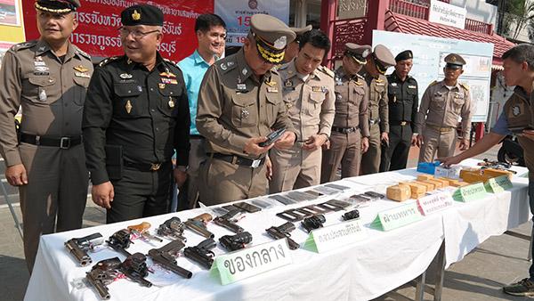 ตำรวจเพชรบุรี-ประจวบแถลงผลจับยาเสพติช่วงสิ้นปี