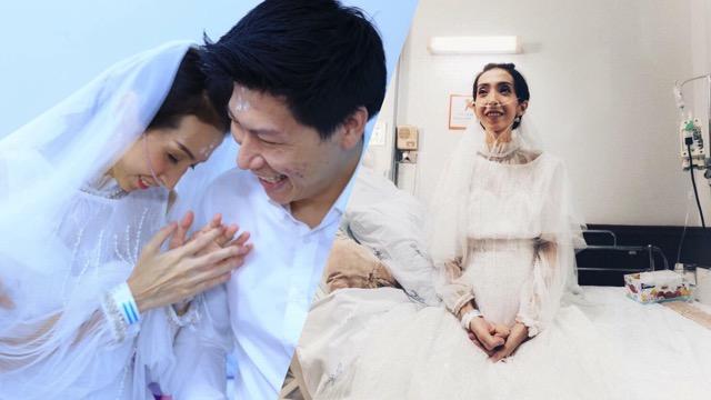 ซึ้งใจ! เจ้าบ่าวจัดงานแต่งเจ้าสาวป่วยกลางห้องพักผู้ป่วยศิริราช (ชมคลิป)