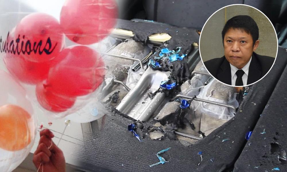 คาดดึงสายชาร์จมือถือ ทำลูกโป่งระเบิดคารถ แนะอัดแก๊สฮีเลียมแทนไฮโดรเจน ไม่ติดไฟ ปลอดภัยกว่า